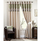 Curtina Coniston Eyelet Lined Curtains 46x54 inches (117x137cm) - Black