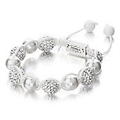Shimla Ladies Crystal Bead Bracelet with Pearls SH-018S