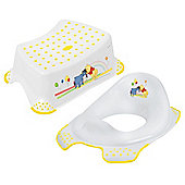 Disney Winnie the Pooh Toddler Toilet Training Seat & Step Stool Combo - White