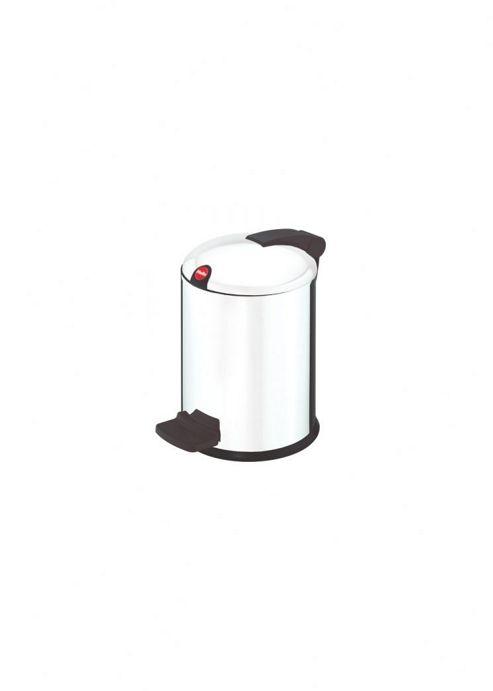 Hailo Trento Design 4 Pedal Cosmetics Bin in White with Plastic Lid