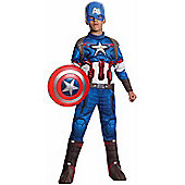 Child Avengers Age Of Ultron Deluxe Captain America Costume Small