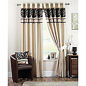 Curtina Coniston Eyelet Lined Curtains 46x54 inches - Black