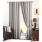 Dreams and Drapes Whitworth Lined Eyelet Curtains 90x90 inches (228x228cm) - Charcoal
