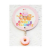 Children's Pink Iced Doughnut Clip on Charm