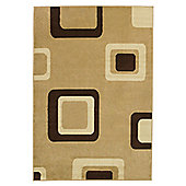 Think Rugs Diamond Beige Budget Rug - 60 cm x 115 cm (2 ft x 3 ft 9 in)