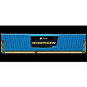 Corsair Microsystems Vengeance 4GB Memory Kit PC312800 1600MHz DDR3 DIMM Unbuffered Blue