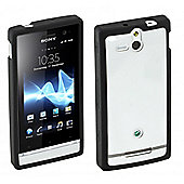 Xperia U Rubber Case Hard Black