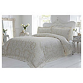 Elegant Living ornate damask jacquard duvet soft gold king