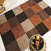 Nordic Andes Orange/Brown 160x230 cm Shaggy Rug