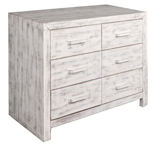 Home Essence Portobello 6 Drawer Chest - Medium (80 cm H x 90 cm W x 45 cm D)