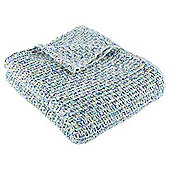 Chunky Ombre Knit Throw, Blue