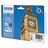 Epson T7032 (WP4000/4500 series) printer ink cartridge - Cyan