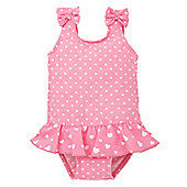 Mothercare Baby Girl's Heart and Spot Swimsuit Size 9-12 months