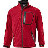 Mizuno Mens Flex Waterproof Rain Jacket - Red