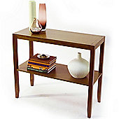 Solid Wood Console Table - Walnut Effect