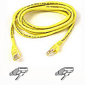 Belkin 0.5m Cat5e Assembled UTP Patch Cable Yellow