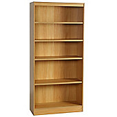 Enduro Five Shelf Tall Narrow Bookcase - Teak