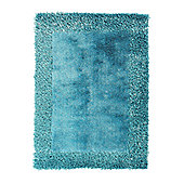 Oriental Carpets & Rugs Sable 2 Teal Tufted Rug - 230cm L x 150cm W