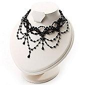Victorian Style Black Beaded Choker