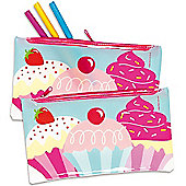 Cool Cupcakes Pencil Cases - Pack of 3