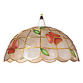 Loxton Lighting Shell Half Ball Flower Shade in Pink