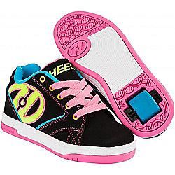 Heelys Propel 2.0 Black/Neon Multi Kids Heely Shoe - UK 1