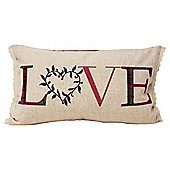 Tartan Love Cushion