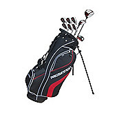 Prosimmon V7 Golf Package Set & Stand Bag Mrh +1 Inch Longer Stiff Black