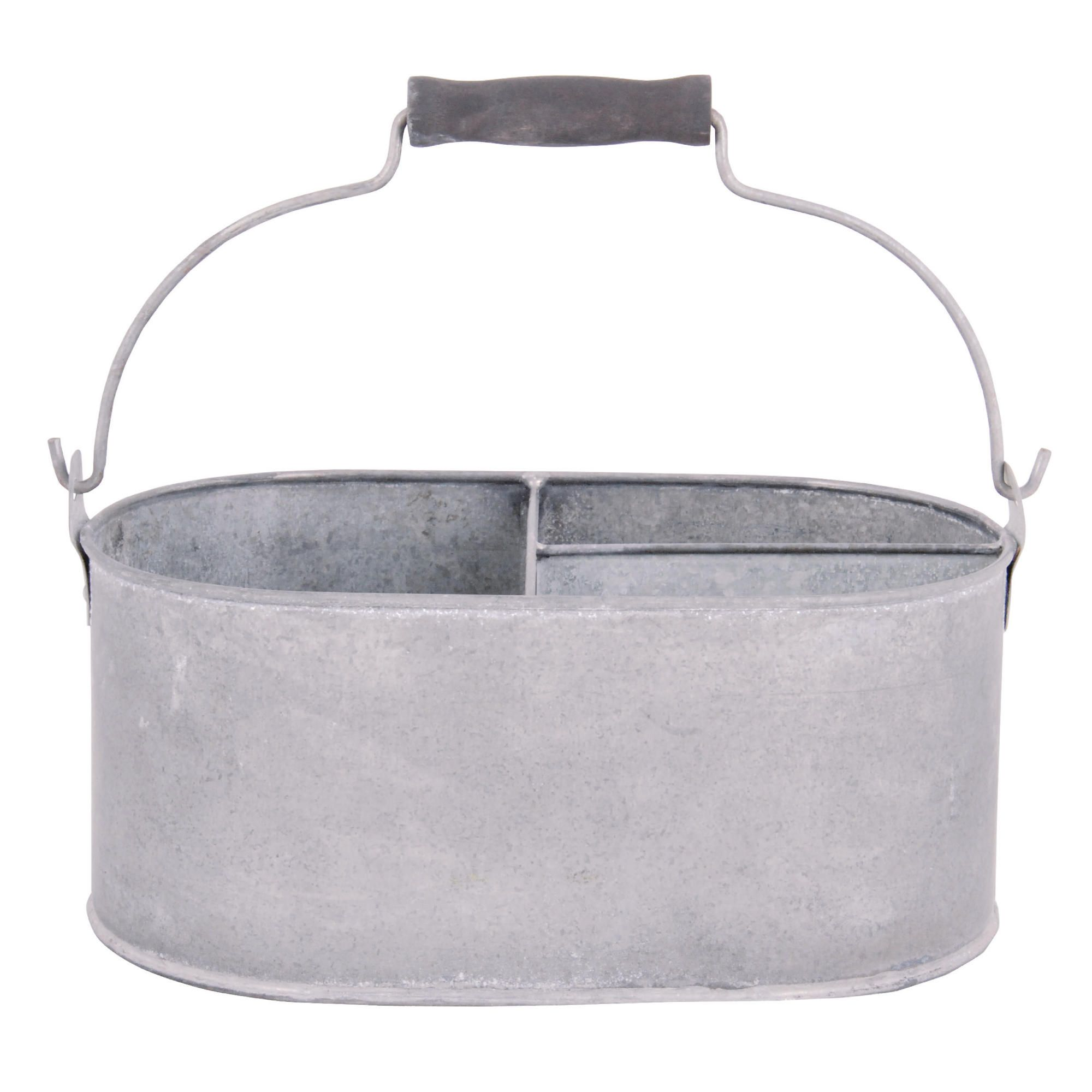 Offerta: Fallen Fruits Old Zinc Oval Basket With Storage, Small