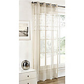 Dreams and Drapes Paloma Cream 52x90 inches ( 132x228cm) Eyelet Single Curtain