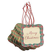 Tartan Christmas Gift Tags, 6 pack