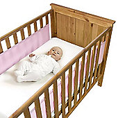 Safe Dreams Cot Wrap 2 Sided Pink