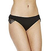 Marie Meili Tacoma Fringed Bikini Briefs - Black