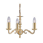 Solid Cast Brass Ceiling Pendant Light in Gold Finish
