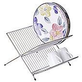 Premier Housewares Folding Dish Drainer in Chrome