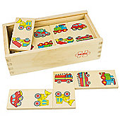 Bigjigs Toys BJ738 Transport Dominoes