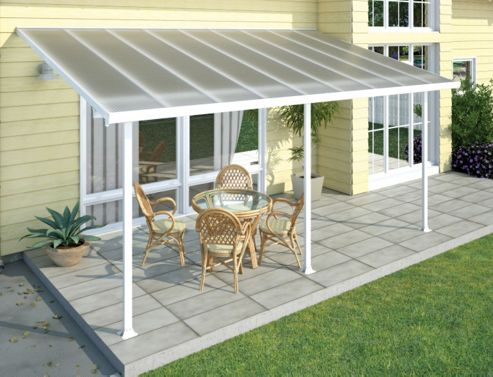 Palram Feria Lean To Carport And Patio Cover 4X14.57 White