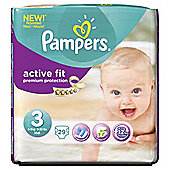 Pampers Active Fit Size 3 Carry Pack - 29 nappies