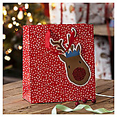 Rudolph Christmas Gift Bag, Medium
