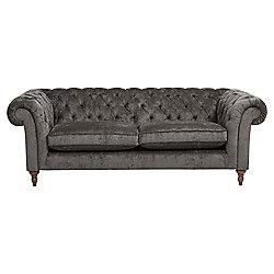 Chesterfield Large Sofa Velvet Pewter