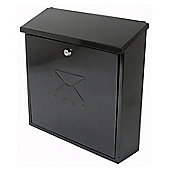 Sterling Contemporary Black Metal Postbox