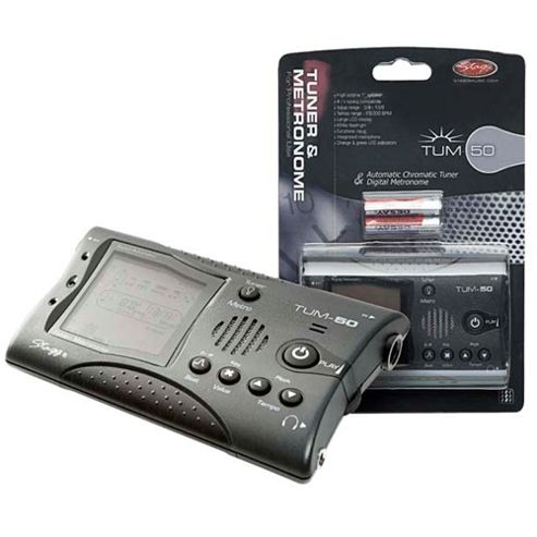 Stagg TUM-50 Tuner & Metronome - Dark Grey