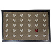 Heart Design Barrier Door Mat, 40 x 60cm