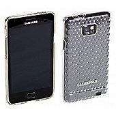 Galaxy S II TPU clear diamond pattern case