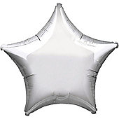 Silver Star Balloon - 19' Foil (each)
