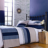 Catherine Lansfield Home Fine Luxury Collection New York King Size Duvet Cover Set Navy