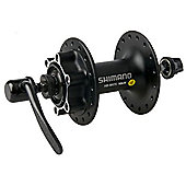 Shimano M475 - 6 Bolt Disc Front Hub in Black - 32H
