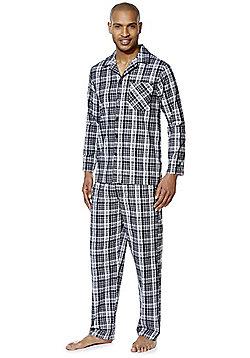 F&F Checked Pyjamas - Black
