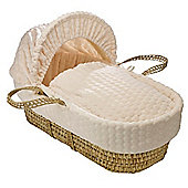 Clair de Lune Palm Moses Basket (Marshmallow Cream)