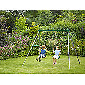 Plum Sedna II Metal Double Swing Set